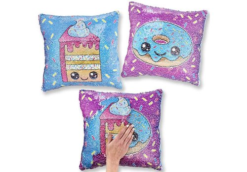 Top Trenz Flipping Sequin Square Pillows sweets