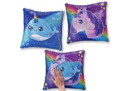 Top Trenz Flipping Sequin Square Pillows Unicorn/Narwal