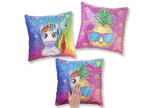 Top Trenz Flipping Sequin Square Pillows Pineapple