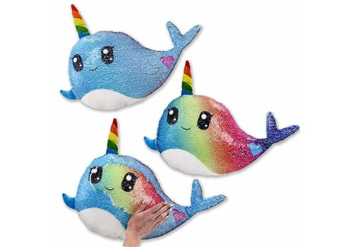 Top Trenz Reversible Narwhal Sequin Pillows