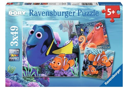 Ravensburger Finding Dory (3 x 49 pc Puzzles)