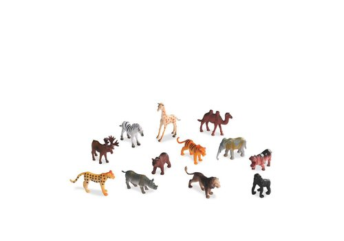 Animaux sauvages en tube