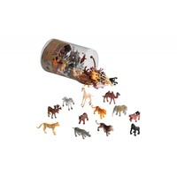Wild animals in a tube