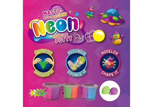 Neon bouncing putty
