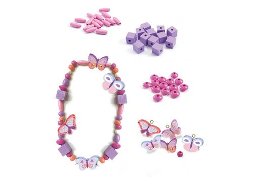 Djeco Perles en bois / Papillons