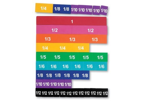 Learning Resources Soft Foam Magnetic Fraction tiles