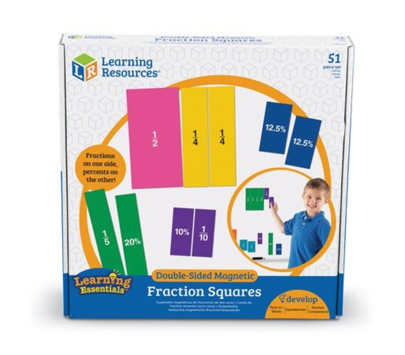Double-Sided Magnetic Fractions Squares