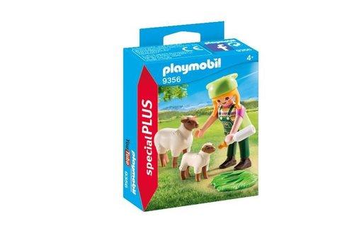Playmobil Fermiere avec moutons