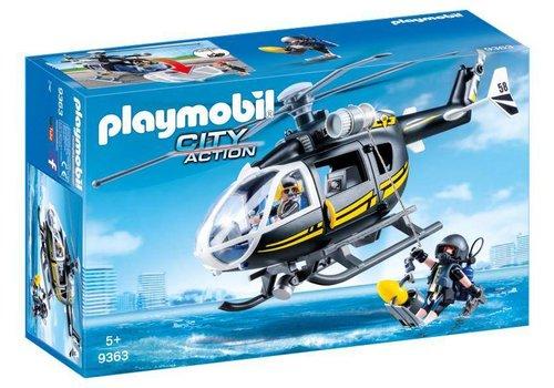Playmobil Helicoptere et policiers d'elite