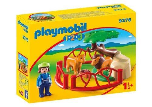 Playmobil Lions et enclos
