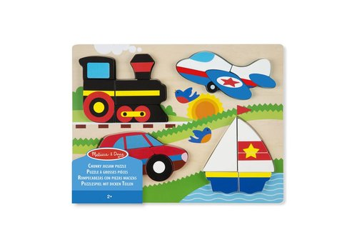 Melissa & Doug Chunky Jigsaw Puzzle - Vehicles