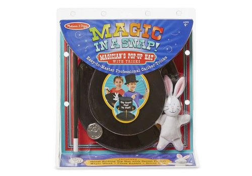 Melissa & Doug Magic in a snap ! Magician's Pop-up Hat with Tricks