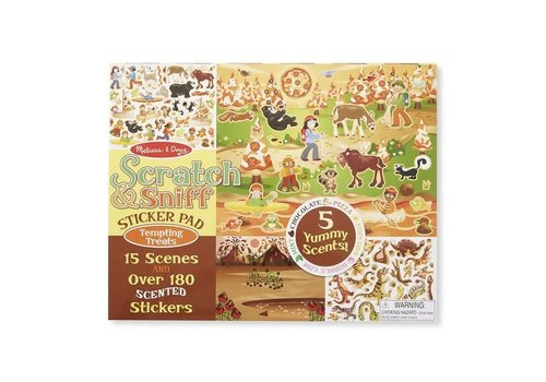 Melissa & Doug Scratch & Sniff Sticker Pads- Tempting treats