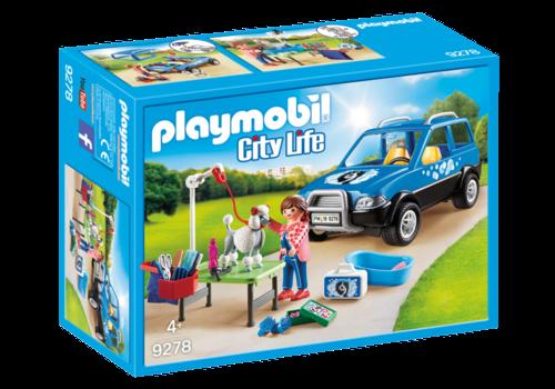 Playmobil Toiletteuse avec véhicule