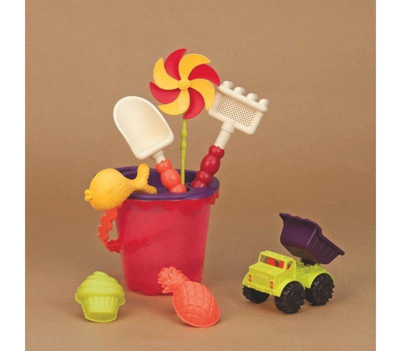 Chaudière et accessoires Sand Ahoy! rouge
