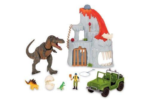 Ensemble de jeu Aventure du T-Rex au volcan