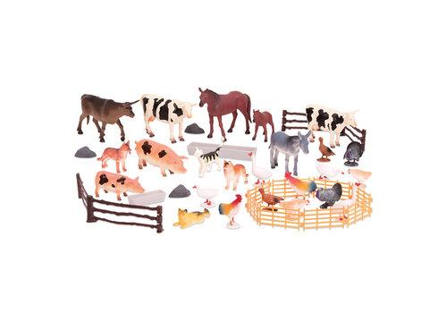 Les animaux de la ferme en seau