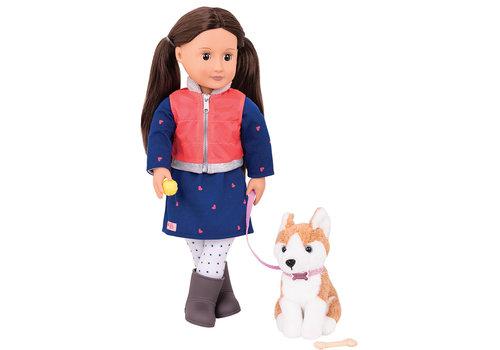 Our generation Poupée Leslie avec chien 46 cm
