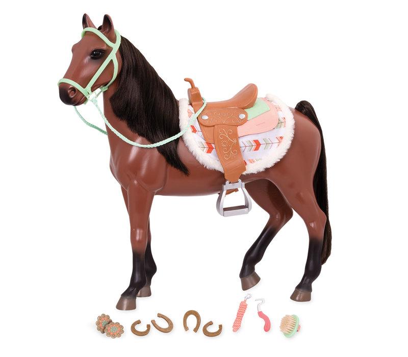 Cheval Buckskin pour poupée OG de 46 cm