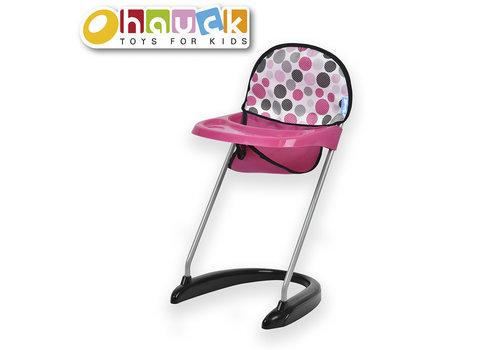 Dot Pink- Chaise haute pour poupée