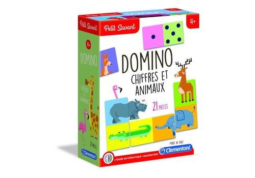 Clementoni Jeu éducatif Domino Chiffres et Animaux