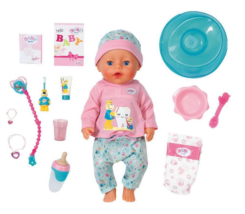"""Baby Born-Poupée de bain """"Soft Touch"""" interactive 43cm"""