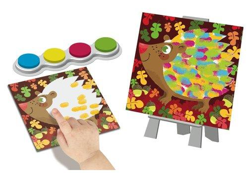 crealign Peinture au doigt Facile - Animaux colorés