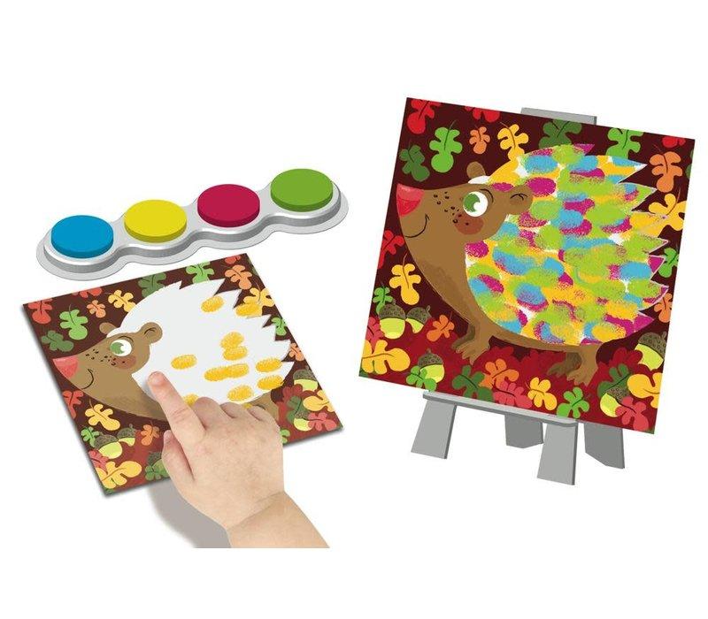 Peinture au doigt Facile - Animaux colorés