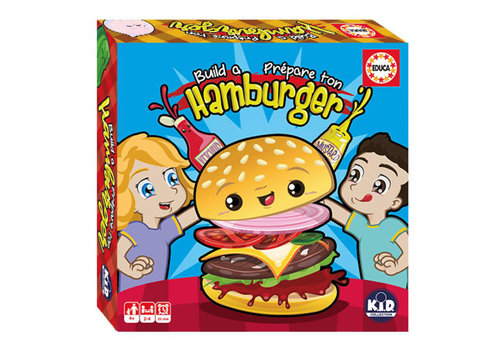 Educa-Borras Educa - Jeu Prépare ton hamburger- Nouveau