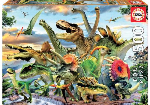 Educa Casse-tête 500 pièces - Dinosaures