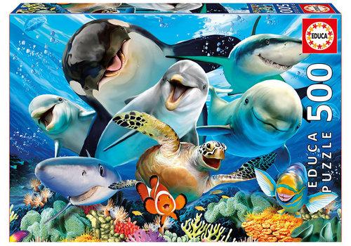 Educa-Borras Casse-tête 500 pièces - Selfie sous la mer