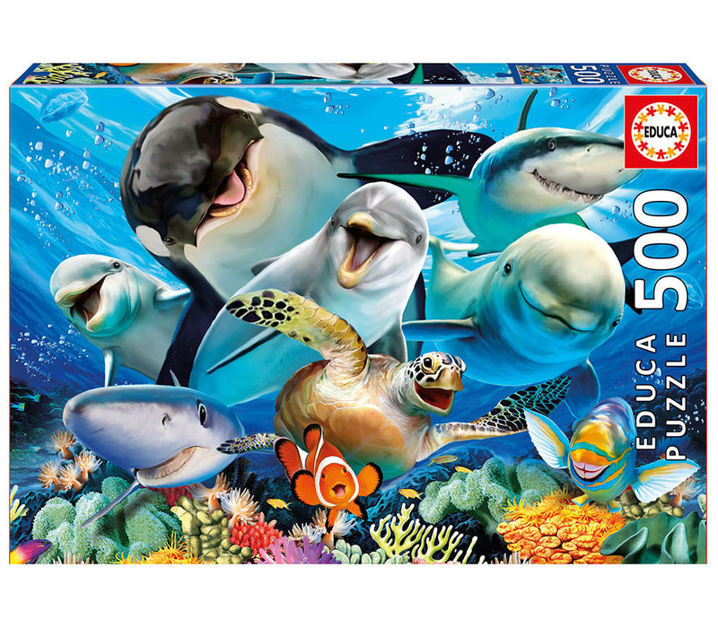 Casse-tête 500 pièces - Selfie sous la mer