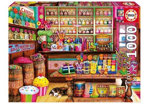 Casse-tête 1000 pièces - Magasin de bonbons