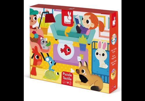 Janod Tactile Puzzle 'pets Animals' - 20pcs