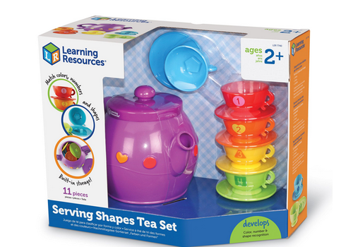 Learning Resources Serving Shapes Tea Set