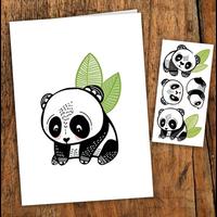 Carte de souhait - Les pandas sympas