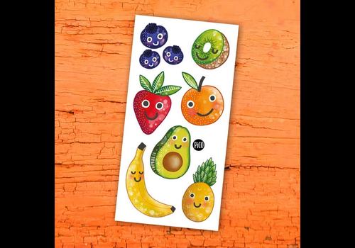 pico Tatouages temporaires -   Les fruits en folie