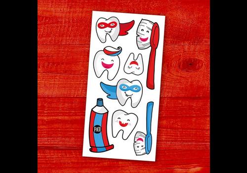 pico Tatouages temporaires - Brosse tes dents