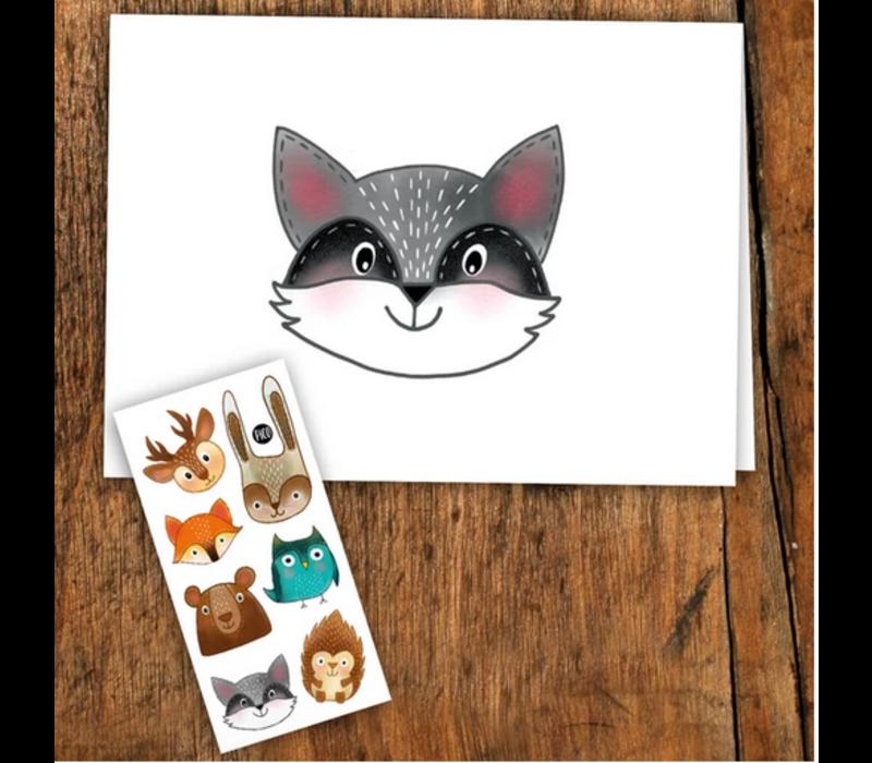 Carte de souhait - Les animaux de la forêt