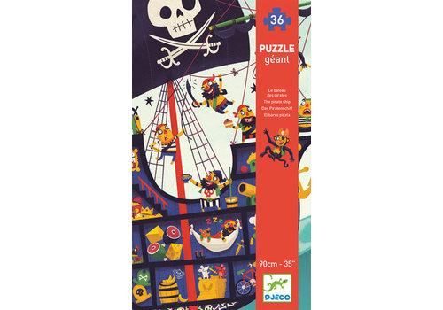 Djeco Puzzle géant/ Bateau de pirates / 36 pcs