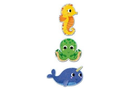 Djeco Primo Puzzle/ Dans la mer / 4,6,9 pcs