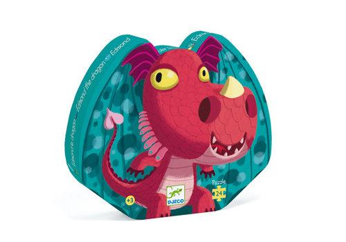 Djeco Puzzle silhouette / Edmond le dragon / 24 pcs