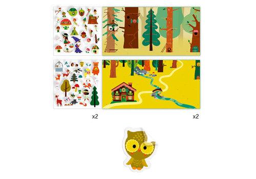 Djeco Histoires de stickers / La forêt magique