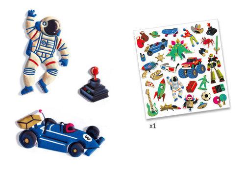 Djeco Autocollants / Retro toys