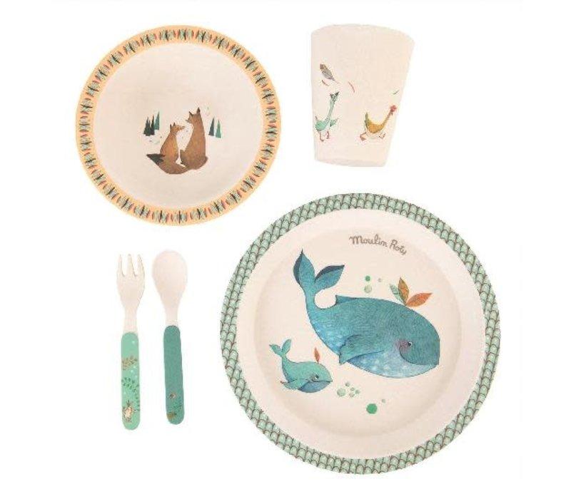 Voyage D'Olga vaisselle bambou - baby dish set, bamboo