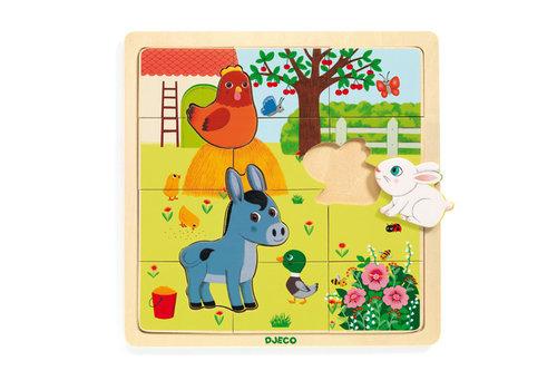 Djeco Puzzle bois / Puzzlo Ferme