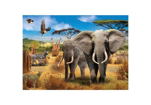 Jumbo 500pc, African Savannah
