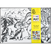 Funny Mat Naperon à colorier Jurassic