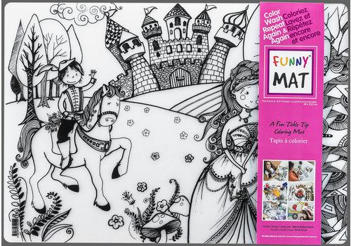 Funny Mat Napperon à colorier princesse