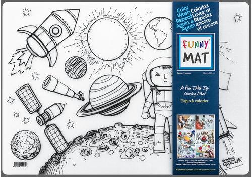 Funny Mat Napperon à colorier Espace